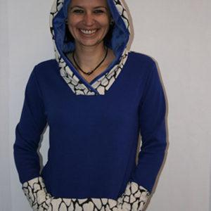 Sweat bleu doublé polaire – Taille M